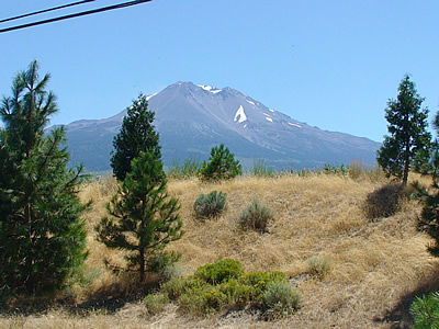 Mount Shasta Peak in Summer